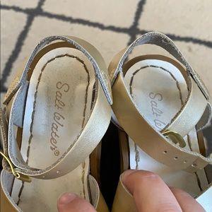 df9072439156 Salt Water Sandals by Hoy Shoes - GOLD Saltwater Sandals EUC NORDSTROM